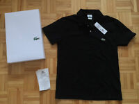 ** Polo Lacoste homme noir - Taille 3 (Small) + Facture **