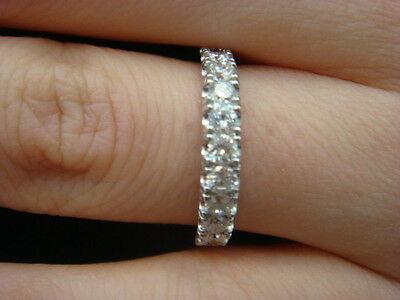 - Lab Diamond Wedding Ring Band 14K White Gold Women Anniversary Ring 0.65CT Guard