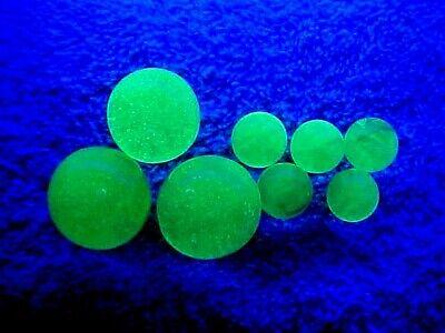 8 ULTRA VIOLET UV REACTIVE (FLORESCENCE) VASELINE URANIUM  GLASS MARBLES $9.99