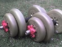 32 lb 15 kg Dumbbell barbell Spinlock Weights - Heathrow