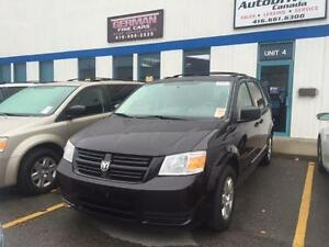 2010 DODGE GRAND CARAVAN SE STOW & GO, BLACK, 7 PSGR, ROOF RACK!