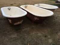 3 claw foot tubs