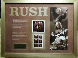 RUSH CANADA POST POSTER/MINT COND WITH STAMPS/POST CARD