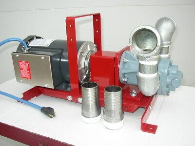 New Redline 2 Hp 38 Gpm Waste Oilbulk Oil Transfer Pumpheaterburnersfuel Oil
