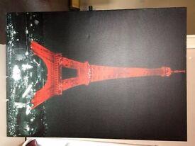 Medium - Painting - Red/Black - Eiffel Tower