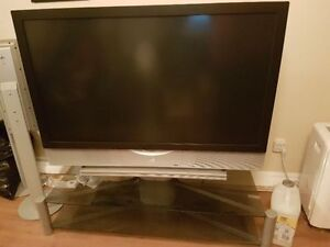 "52"" JVC HD-ILA™ HDTV-ready rear-projection TV & stand for sale"
