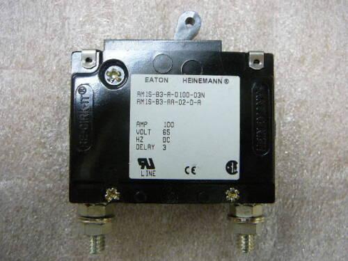 EATON HEINEMANN 100 AMP DC CIRCUIT BREAKER  AM1S-B3-AAA02-JDAW-100-250AC-3  NEW
