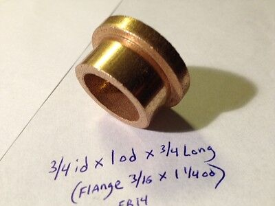 Oilite Flange Bushing Bronze 34 Id X 1 Od X 34 Brass Bush Shim Spacer Bearing