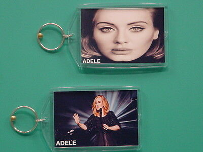 ADELE ADKINS - with 2 Photos - Designer Collectible GIFT Keychain 03