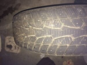 5 slighly used 205/65 r16 Duration Winterquest tires