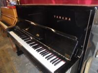 yamaha piano upright black gloss u1