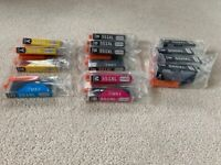 Printer ink cartridges (550XL and 551XL) for a Canon printer
