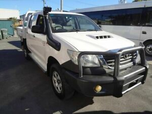 2011 Toyota Hilux KUN26R MY11 Upgrade SR (4x4) White 5 Speed Manual Dual Cab Chassis Coopers Plains Brisbane South West Preview