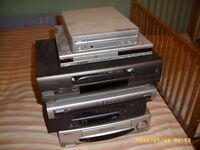 VCR DVD players and recorder for sale