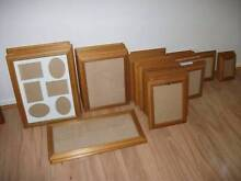 SET OF 20 MATCHING TIMBER & GLASS PICTURE FRAMES Adamstown Newcastle Area Preview