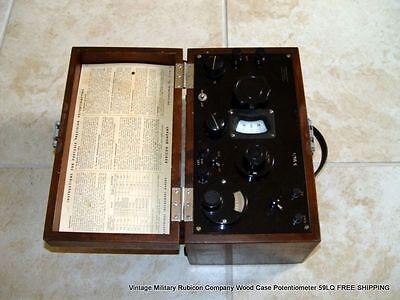 Vintage Military Rubicon Company Wood Case Potentiometer 59lq Free Shipping