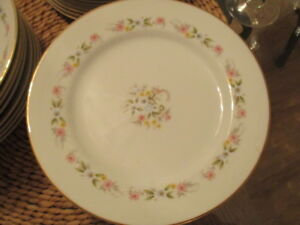"""Delicate Flowery Pattern """"Sharon"""" 397 Fine China 8 place setting"""