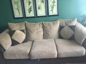 Comfortable sofa and loveseat