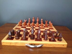 Hand Carved Woden Chess Set O'Connor North Canberra Preview