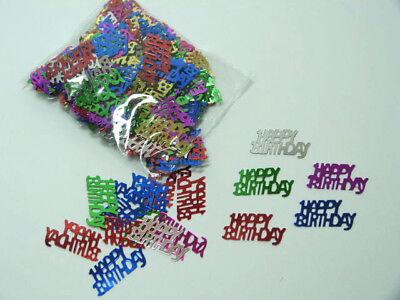 (100gr./12,45€) 20gr. Pailletten Happy Birthday Aluflitter Glitter  Streudeko