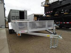 6X12 ALUMINUM UTILITY - SOLID SIDES, BI-FOLD GATE - SPECIAL! London Ontario image 4