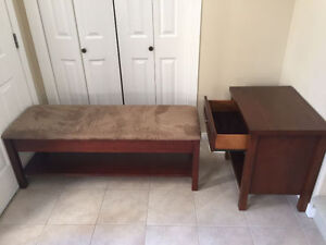BEDROOM BENCH (BED SEAT) / BEDSIDE TABLE - price drop from $300!