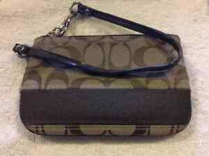 New Authentic Coach Wristlet
