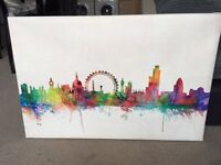 Colourful Wall Art Canvas of City