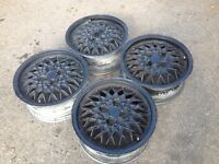 "BBS RA 4x100, 15"", 6J. Alloy wheels, deep dish Original Made in Germany. not brabus, ats"