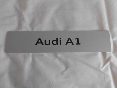 Werbeschild Audi A1 für das Nummernschild siehe Fotos