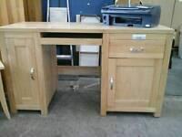 Solid oak office desk (suitable as a computer desk)