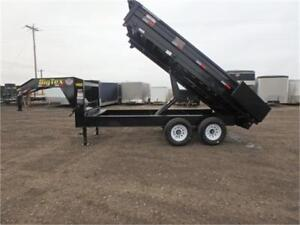 """*14K* 8' x 14' OVER THE AXLE DUMP TRAILER *18"""" FOLD-DOWN SIDES*"""