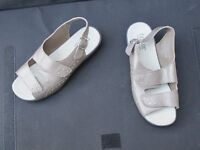Ladies' Hotter sandals, size 5. Pale bronze. Hardly worn.