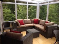 Use your deck all year with a 3-season Sunroom