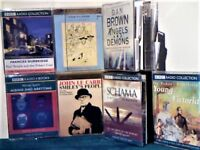 BBC 2 & 4 TAPE AUDIO BOOKS, SOME STILL SEALED/NEW PRERECORDED CASSETTE TAPES ONLY 50p PER TAPE OFFER