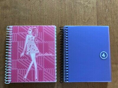 (2) Miquelrius Jordi Labanda textured mini Spiral Notebook & 3 subject Spain