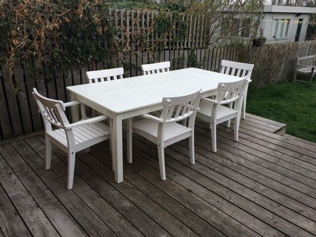 ikea ngs white outdoor dining set in craigentinny edinburgh