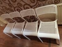 White 4 X chairs great condition great working
