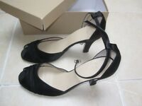Kew peep toe satin heels size 41