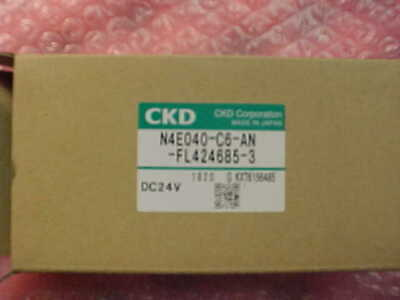 Ckd Corp. Solenoid Valve N4e040-c6-an-fl424685-3 Dc24v Disco Lnme-010076-00
