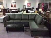 BRAND NEW CANADIAN MADE BONDED LEATHER SECTIONAL 4 COLOUR CHOICE