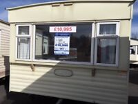 CHEAP STATIC CARAVAN FOR SALE. FREE SITE FEES. PARKS IN SKEGNESS, INGOLDMELLS AND CHAPEL