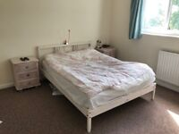 1.5 Person Bed (White Pine Frame)
