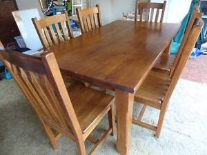 Seven piece timber dining suite. Figtree Wollongong Area Preview