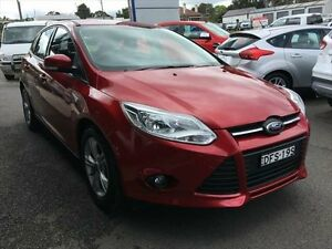 2013 Ford Focus LW MK2 Trend Candy Red 6 Speed Automatic Hatchback Young Young Area Preview