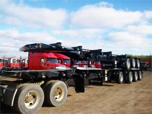 2017 Deloupe Quad axle Taper frame Log trailer