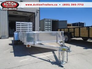 DISCOUNTED 5X14' ALL ALUMINUM QUALITY TRAILER -SOLID SIDES