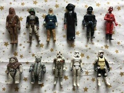 Collection of Star Wars Figures, Used, 1980's