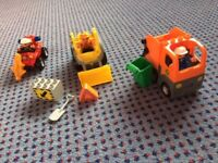 Lego Duplo vehicles , digger, waste truck, fire buggy