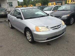 2003 Honda Civic Automatique. Non-running, siezed alternator